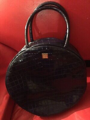 Givenchy Iconic Round Handles Cosmetic Purse Blue-Purple M