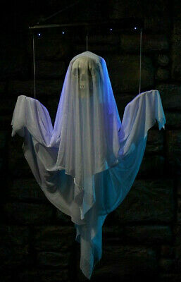 4 Foot Floating Ghost New In Box. Makes Sounds Lights Up Moves Up/Down.