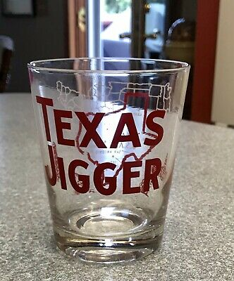 "EXTRA LARGE TEXAS JIGGER SHOT GLASS, APPROX 12oz., 4-1/4"" TALL"