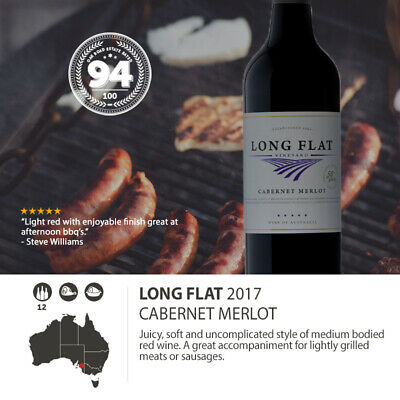 2017 Long Flat Cabernet Merlot (12 Bottles)