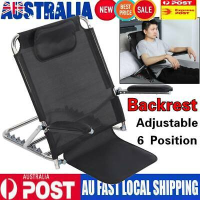 6 Position Adjustable Folding Bed Backrest Disability Aid Back Support w/ Pillow