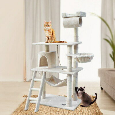 iPet Large Cat Tree Scratching Post Condo Scratcher Tower Play House Furniture