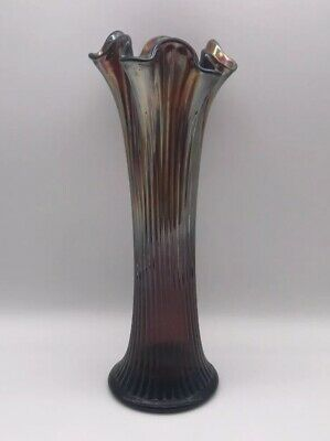 Northwood Carnival Glass Fine Rib Vase