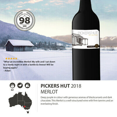 2018 Pickers Hut Merlot (12 Bottles)