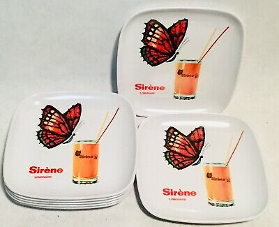 Sirène Limonade lot of 7 Vintagemelamine bowls Otten Brussels made in Italy