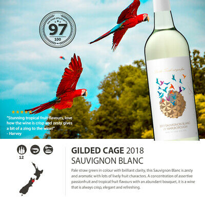 2018 Gilded Cage Sauvignon Blanc Marlborough (12 Bottles)