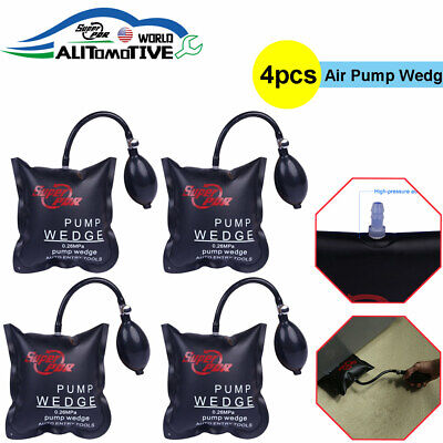 4x Air Wedge Pump Bag PDR Lever Inflatable Cushioned Bag Lift Pry Entry Tool Set