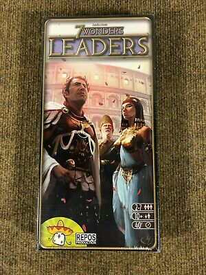 7 Wonders Leaders Expansion Board Game by Repos Production 2014 NEW SEALED