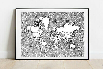 "World Map Mandala ""Colour Your Travels"""