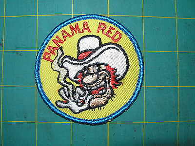 """From 1970's but new COOL Vintage Patch """"Panama Red""""'"""