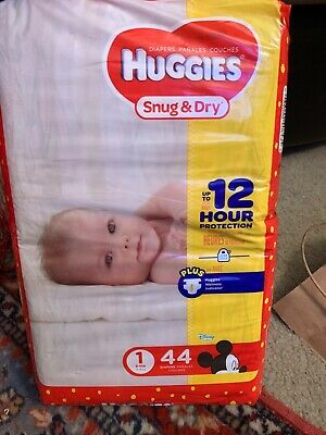 Huggies Snug and Dry Size 1 Disposable Diapers - 44 Count