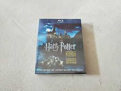 Harry Potter: Complete 8-Film Collection (Blu-ray Disc, 2011, 8-Disc Set) New!
