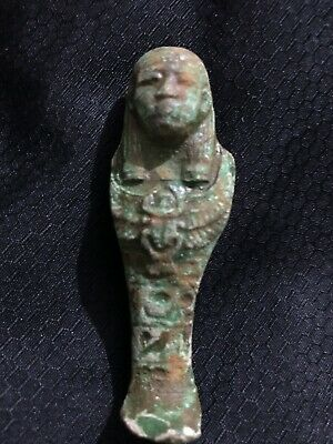 Rare Ancient Egyptian Faience Shabti With Kartouch (945-715 BC.)
