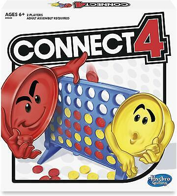 Connect 4 Four Classic Family Fun Fast Paced Board Game Hasbro Fast shipping