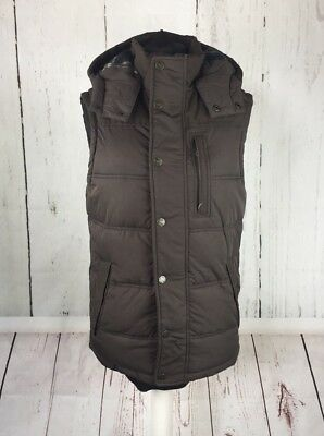 """Fat Face Xs Brown Padded Hooded Gilet Body Warmer Approx Uk 10-12 38"""" Chest"""