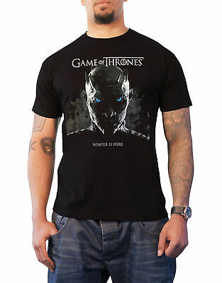 Game Of Thrones T Shirt Winter is Here Night King Rising new Official Mens Black