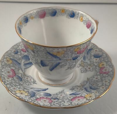 Vintage Tuscan Bone China Tea Cup & Saucer -Floral
