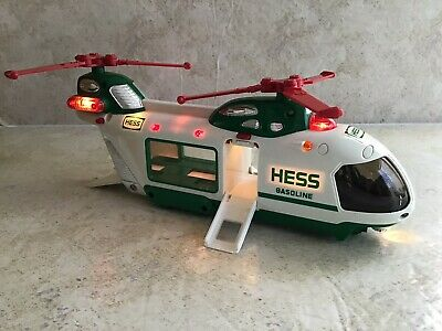 OLDER HESS TRUCK - 2001- HELICOPTER Fully Working No Car  -  - USED- L247