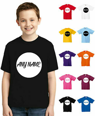 Personalised Kids Name T-Shirt, Add Name & Number Boys Girls Birthday New Top