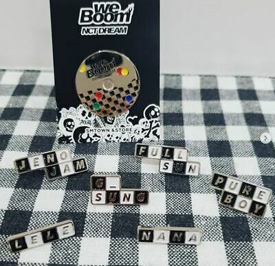 Nct Dream We Boom Smtown Ddp Official Goods Diy Pin Badge Sealed