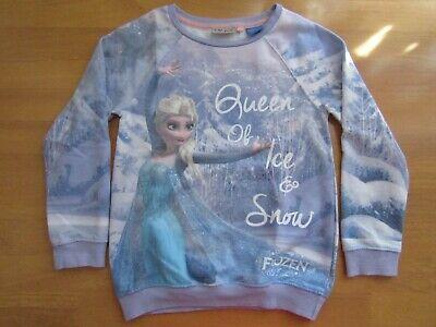 Next Girls Lilac Disney Frozen Cotton Mix Sweatshirt Jumper Top - Age 8 Years