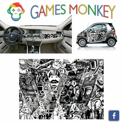 Pellicola Car Wrapping Adesiva 70x50 cm - STICKER BOMB 07 - Vinile PVC Lucido HD