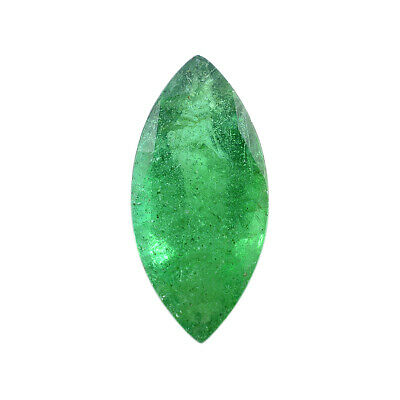 Green Emerald Gemstone Marquise Faceted Zambia 0.35 Carat UK
