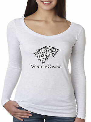 New Way 1216 - Women's Long-Sleeve Winter Is Coming Stark Sigil Game Of Thrones
