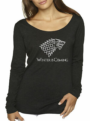 New Way 1217 - Women's Long-Sleeve Winter Is Coming Stark Sigil Game Of Thrones