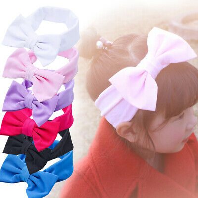 Hot Cute Baby Girls Toddler Newborn Big Headband Headwear Hair Bow Accessories