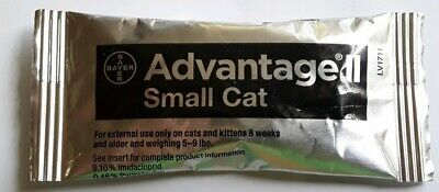 Bayer Advantage II Flea Prevention For Small Cats 5-9 lbs - 1 Dose (NWOB)