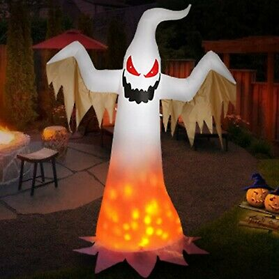 8 Ft Halloween Inflatables Ghost LED Lights Trick or Treat Outdoor Lawn Decor