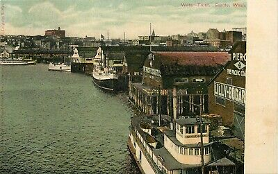 Washington Postcard The Pacific Coast Co., Lily Bogart, Pier Water Front Seattle