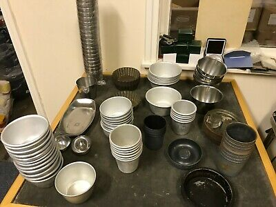 Job Lot S/Steel/Metal Cooking Tubs For Catering/Cooking/Baking X 100