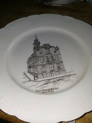Old State House Boston commemorative plate