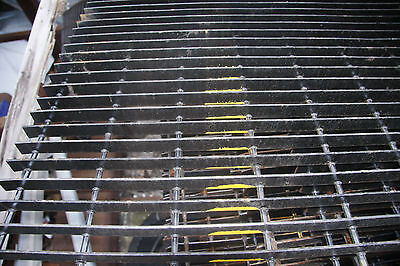 """19-W-4 Space Welded Torch Cut Steel Bar Grating - 36"""" x 35 3/4"""" Painted Black"""