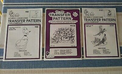 NEW Pretty Punch Iron Transfer Pattern Crafts Birds Ducks Pheasants Embroidery