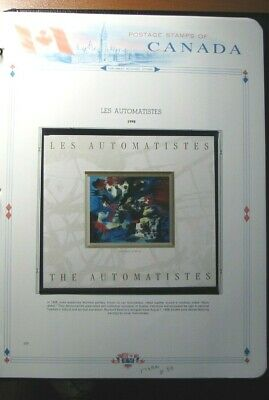 Canada White Ace Page Stamp Scott# 1749a Les Automatistes 1998 MNH  L303