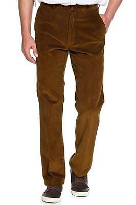 New Mens Marks & Spencer Brown Cord Trousers Waist 38 34 30 Leg 33 31 29