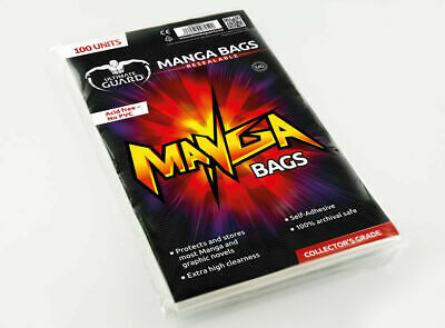 Ultimate Guard Manga Bags Resealable Bags 100 Pack 150 x 218 mm New
