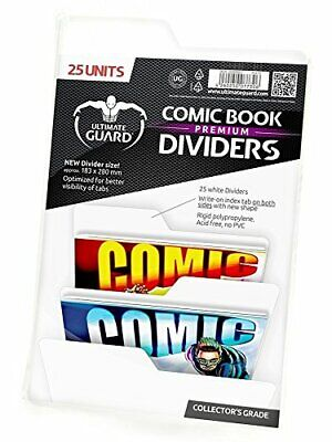 Ultimate Guard Premium Comic Book Dividers Set of 25 White New