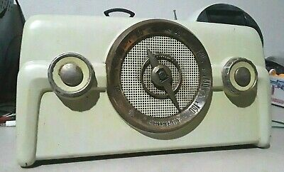 Antique 1949 Crosley 10-137 Coloradio Dashboard Tube Radio Vintage Works!