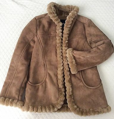 Esprit Outwear Women Leather Coat Medium With Pockets Size M. Gently used