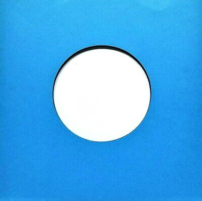 """12 Blue Paper Record Sleeves!! (Inner) For 7"""" w/ cntr hl (45 RPMs)"""
