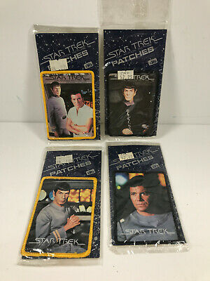 1979 Star Trek Motion Picture Patches Lot (x4) Spock Cpt. Kirk