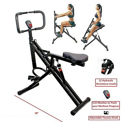 Total Crunch AB Core Abdominal Squat Full Body Exercise Crunch Workout Machine