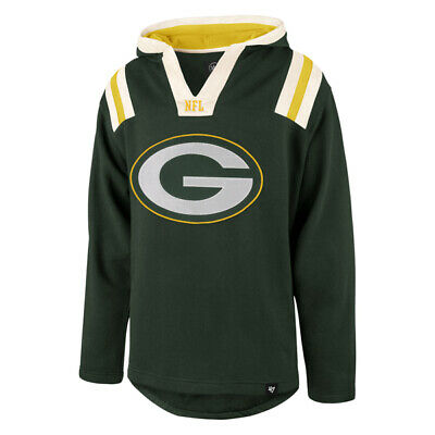 47 Brand Green Bay Packers Hail Mary Pullover Hood Jersey Hoodie Nfl Sweatshirt