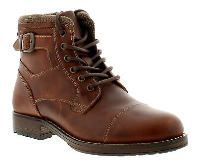 Red Tape Hawthorne Wood Mens Formal Boots Brown UK Size