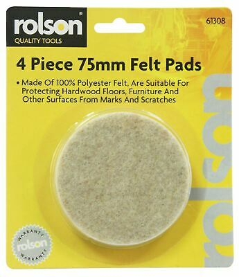 Rolson 61308 Felt Pads, 75 mm - 4 Pieces