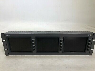 """Sony LMD-5320 Triple 5.6"""" Analog LCD Monitor w/ power supply and bkm 320d"""